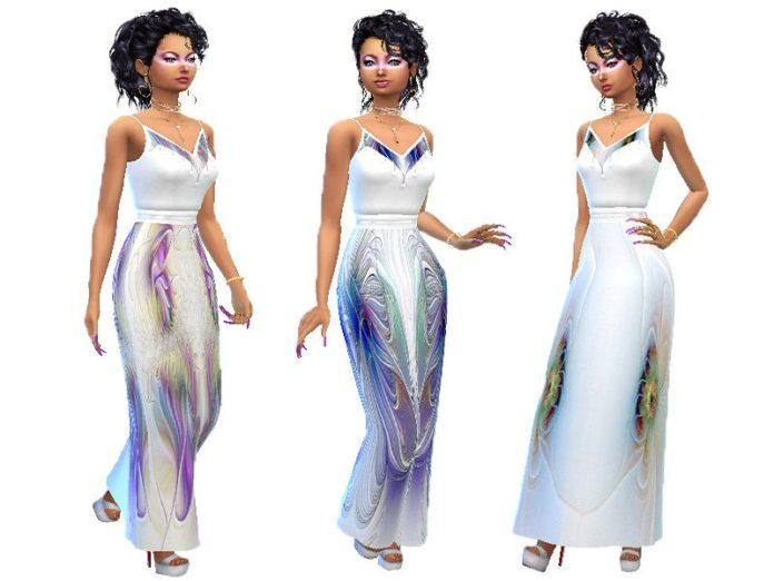 Платье «Павлин» от TrudieOpp для Sims 4