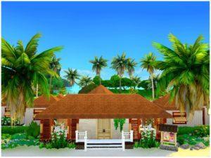 Морской курорт от Mini Simmer для Sims 4