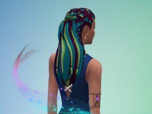 Женская прическа «Магия косичек» от JujuAwesomeBeans для Sims 4