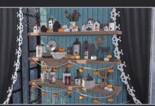 Набор предметов интерьера Хеллоуин 2019 от soloriya для Sims 4