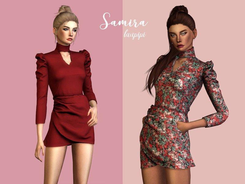 Платье «Самира» от laupipi для Sims 4