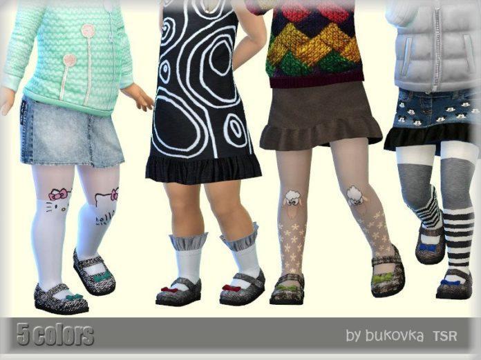 Детские сандалии от Bukovka для Sims 4