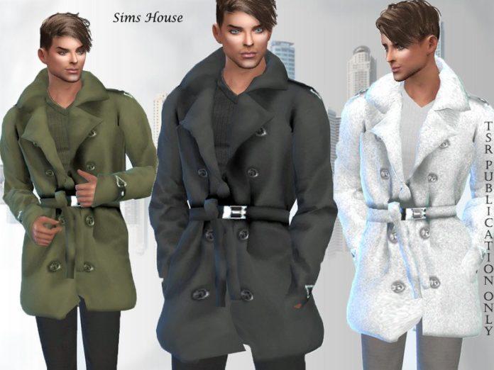 Мужской плащ от Sims House для Sims 4