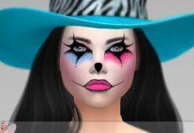 Маска для лица Halloween от Jaru Sims для Sims 4