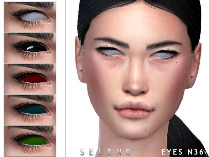 Глаза без зрачков от Seleng для Sims 4