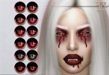 Глаза вампира от FashionRoyaltySims для Sims 4