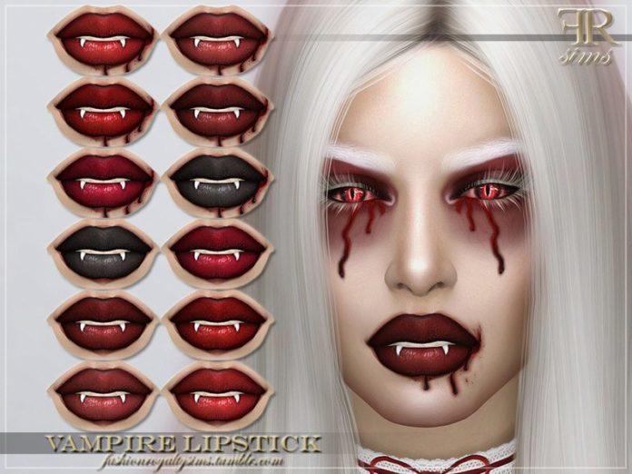 Губная помада «Оскал вампира» от FashionRoyaltySims для Sims 4