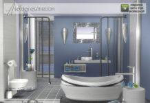 Набор предметов для ванной комнаты Asoxtane от jomsims для Sims 4