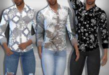 Мужская рубашка с рисунком от Saliwa для Sims 4