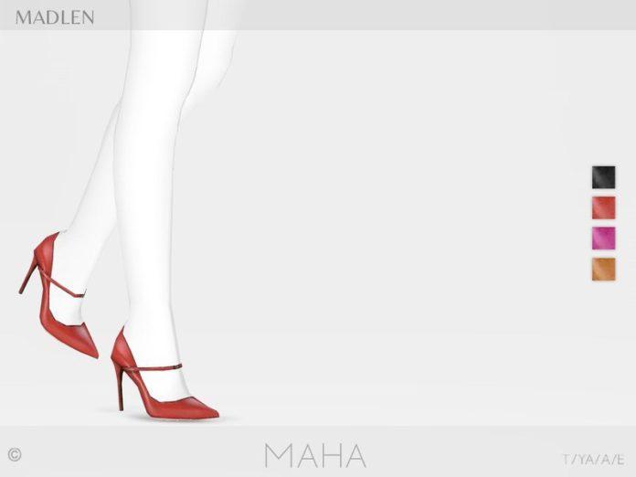 Туфельки на шпильке Madlen Maha от MJ95 для Sims 4