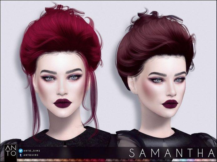 Женская прическа «Саманта» от Anto для Sims 4