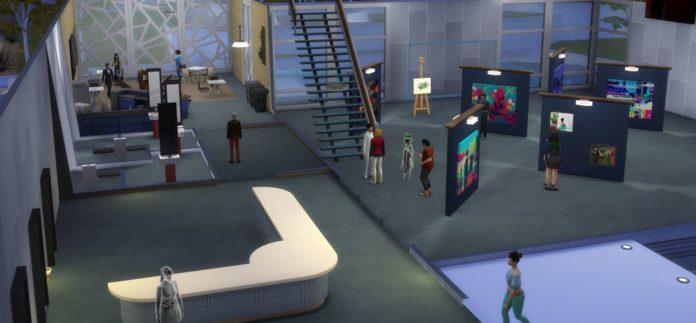 Мод «Художественная выставка» от Kiara для Sims 4