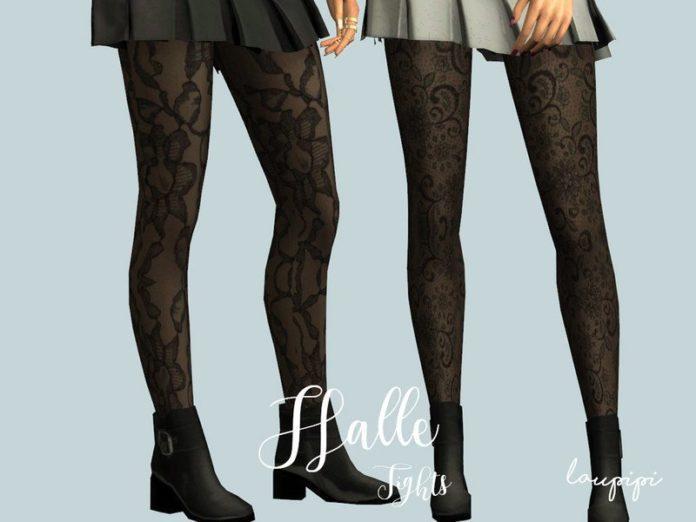 Женские ажурные колготки от laupipi для Sims 4