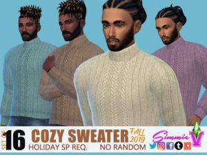 Набор мужских свитеров от SimmieV для Sims 4
