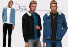 Мужская джинсовая куртка от DarkNighTt для Sims 4