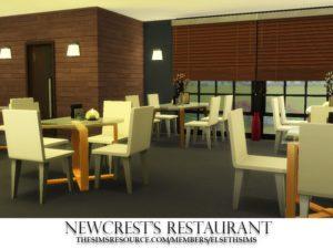 Ресторан Ньюкреста от Elseth Sims для Sims 4