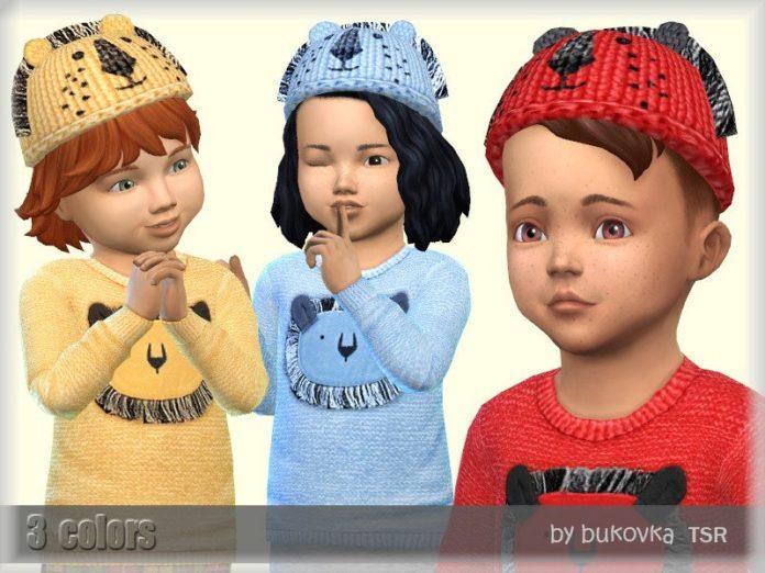 Детская шапочка «Львенок» от Bukovka для Sims 4