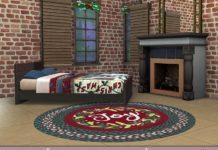 Рождественские ковры от evi для Sims 4