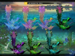 Сказочные хвосты для русалок от DanSimsFantasy для Sims 4