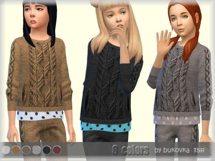 Свитер для девочек от Bukovka для Sims 4