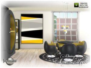 Набор мебели «Футуристическая столовая» от jomsims для Sims 4