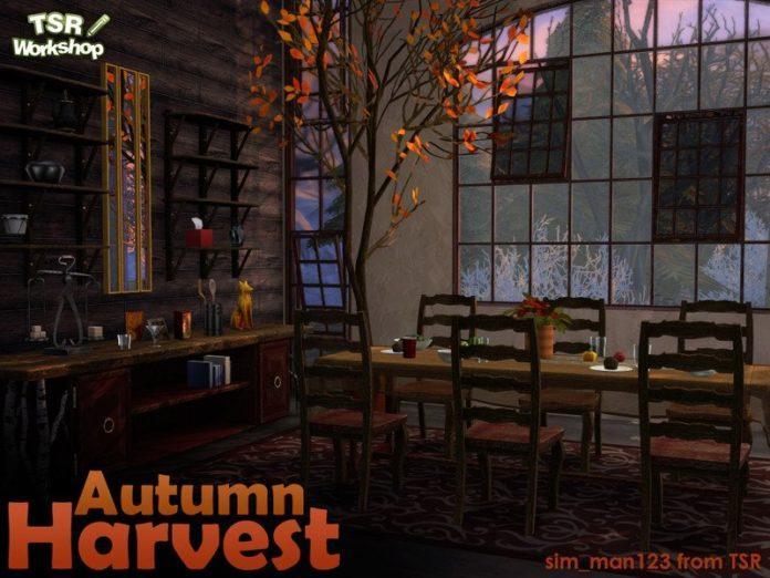 Набор мебели «Осень» от sim_man123 для Sims 4