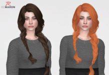 Прическа «Легкие косички» от remaron для Sims 4