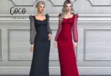 Вечернее платье «Коко» от laupipi для Sims 4