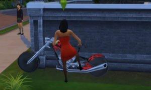 Мод «Мотоцикл байкера» от Esmeralda для Sims 4