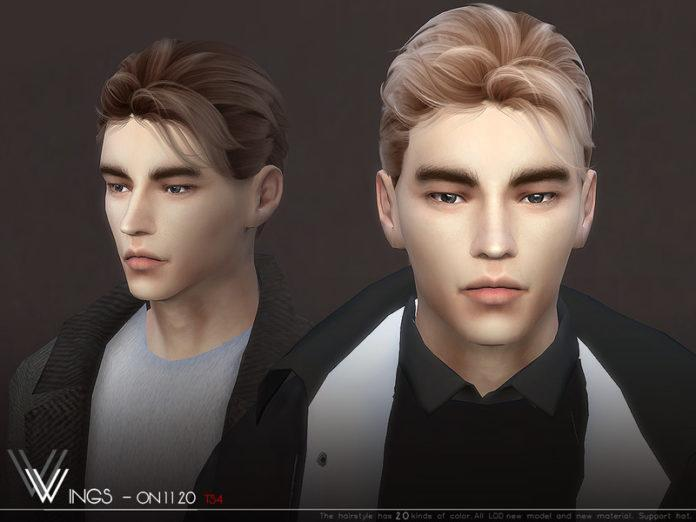 Мужская прическа «Перышки 1120» от wingssims для Sims 4