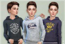 Толстовка для мальчиков от lillka для Sims 4
