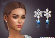 Сережки «Снежинка» от feyona для Sims 4