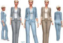 Женский карьерный костюм от dgandy для Sims 4