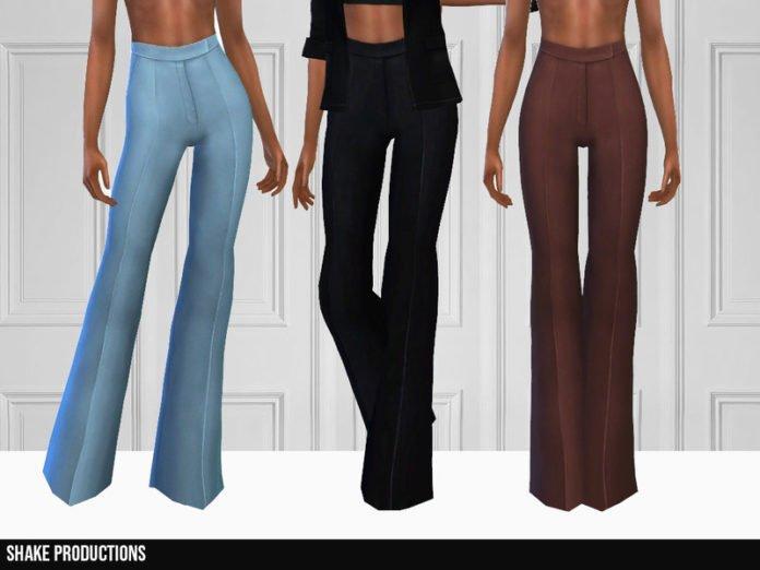 Брюки-клеш от ShakeProductions для Sims 4