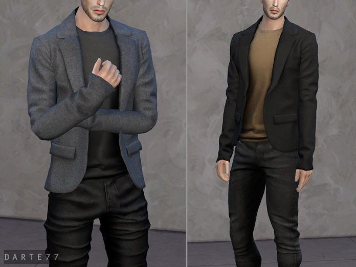 Мужской пиджак от Darte77 для Sims 4