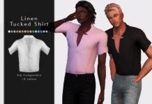 Мужская заправленная рубашка от DarkNighTt для Sims 4