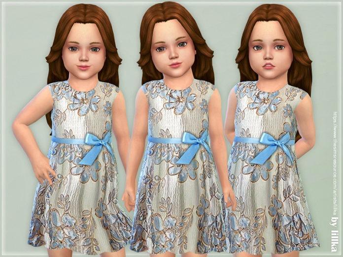 Праздничное детское платье от lillka для Sims 4