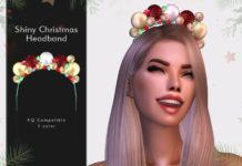 Рождественский ободок от DarkNighTt для Sims 4