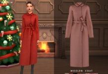 Женское пальто от ChloeMMM для Sims 4