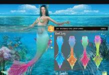 Хвост русалки «Клин» от DanSimsFantasy для Sims 4