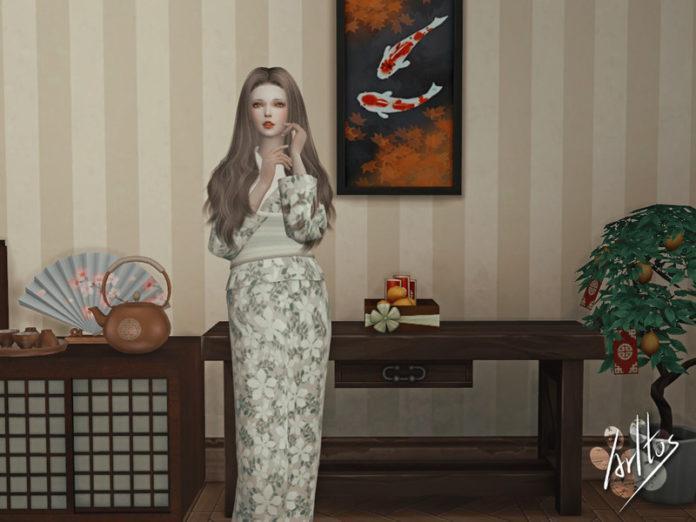 Кимоно от Arltos для Sims 4