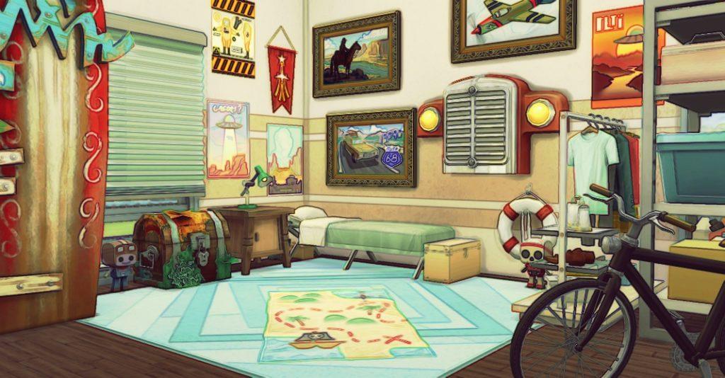 Вдохновение: комнаты для подростков Sims 4