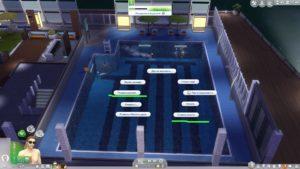 Мод «Продвинутое плавание» от Teknikah для Sims 4