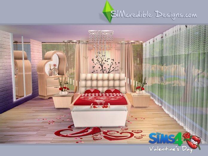 Набор мебели «День любви» от SIMcredible для Sims 4