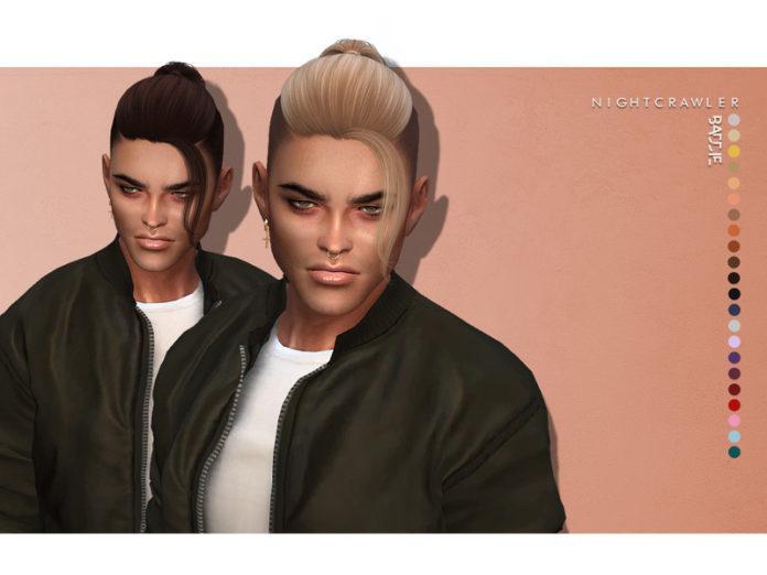 Мужская прическа «Злодей» от Nightcrawler Sims для Sims 4