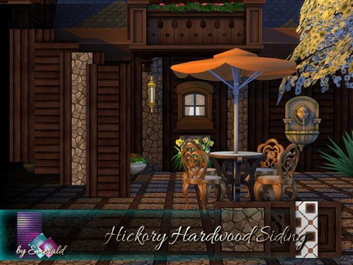 Древесная отделка стен и пола от emerald для Sims 4