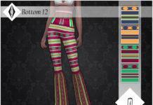 Женские национальные брюки-клёш от AleNikSimmer для Sims 4