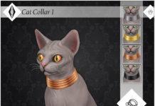 Ошейник для кошек «Сфинкс» от AleNikSimmer для Sims 4