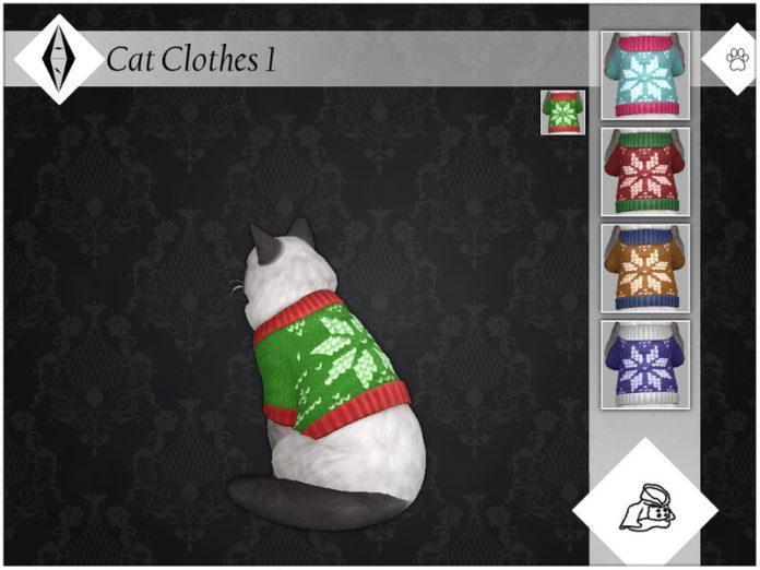 Свитер для питомцев «Снежинка» от AleNikSimmer для Sims 4