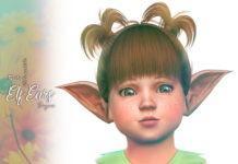 Ушки эльфов для тоддлеров от Suzue для Sims 4
